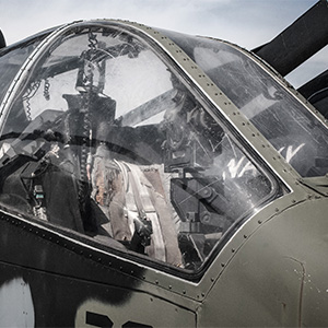 Cockpit of a Cobra Helicopter